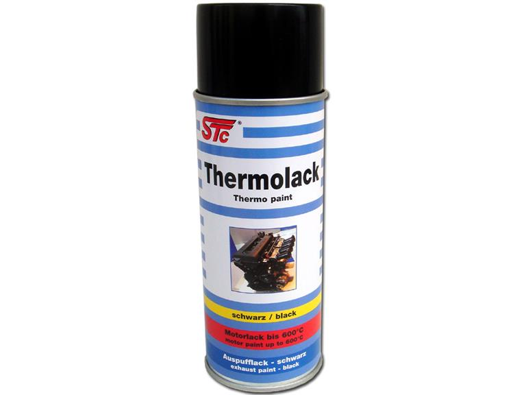 400 ml stc thermolack spray schwarz bis 600 c auspufflack. Black Bedroom Furniture Sets. Home Design Ideas
